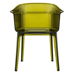Set of 2 Kartell Papyrus Chair in Olive Green by Ronan & Erwan Bouroullec