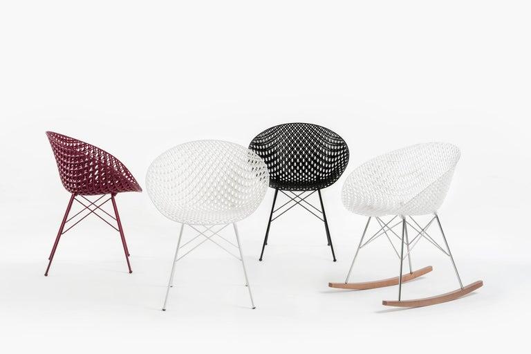 Modern Set of 2 Kartell Smatrik Outdoor Chair in Black by Tokujin Yoshioka For Sale
