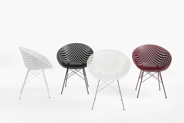Italian Set of 2 Kartell Smatrik Outdoor Chair in Black by Tokujin Yoshioka For Sale