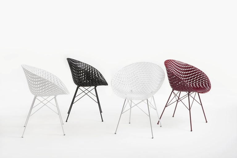 Set of 2 Kartell Smatrik Outdoor Chair in Black by Tokujin Yoshioka In New Condition For Sale In New York, NY