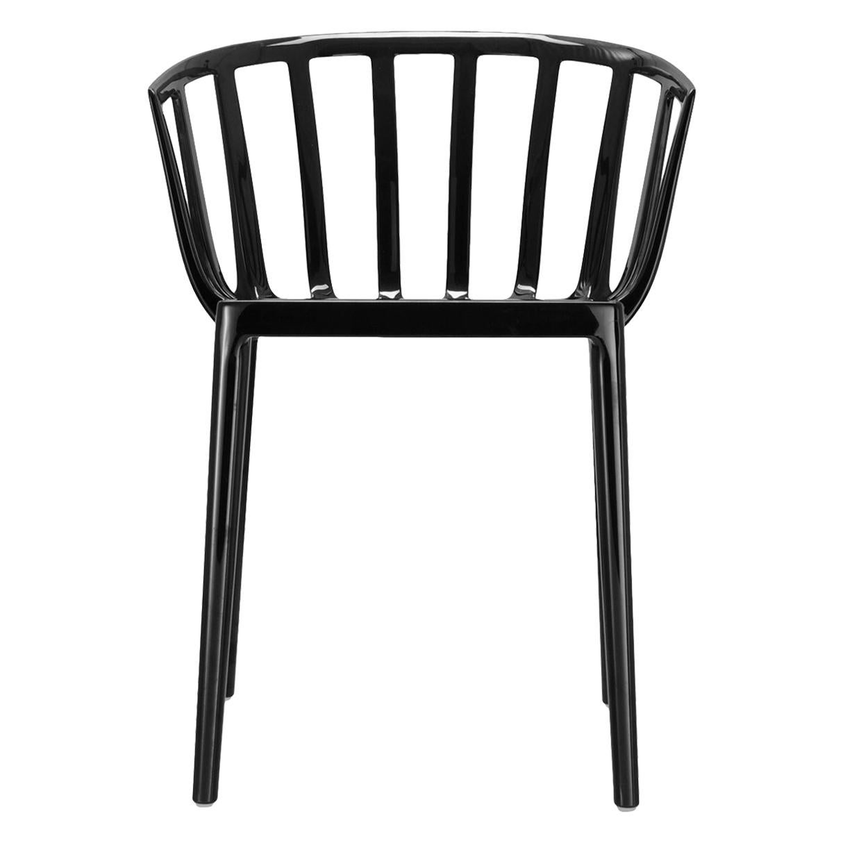 Set of 2 Kartell Venice Chairs in Black by Philippe Starck