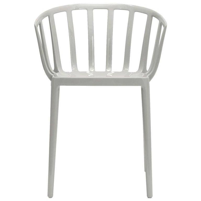Set of 2 Kartell Venice Chairs in Grey by Philippe Starck For Sale
