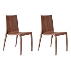 Set of 2 Ki Wood Chairs by Mario Bellini