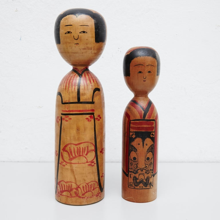 Japanese dolls called Kokeshi of the early 20th century.