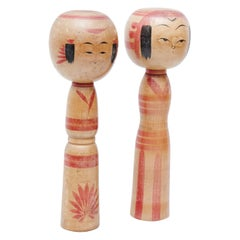 "Set of 2 ""Kokeshi"" Dolls"