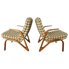 """Set of 2 """"Konkav"""" Lounge Chairs by Paul Bode Made in Germany, 1950s"""