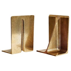Set of 2 Large Bronze Bookends by Henry Wilson