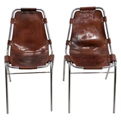 Set of 2 Leather Chairs Les Arcs