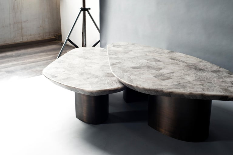 Modern Set of 2 Ledge Coffee Table by DeMuro Das For Sale