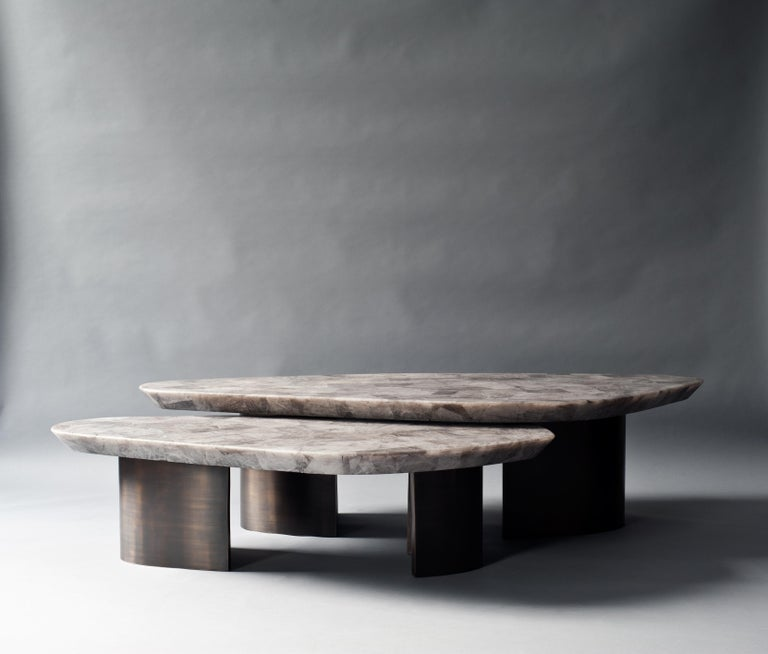 American Set of 2 Ledge Coffee Table by DeMuro Das For Sale