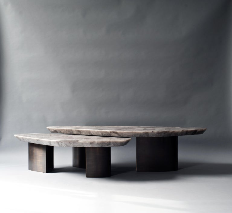 Set of 2 Ledge Coffee Table by DeMuro Das In New Condition For Sale In Geneve, CH