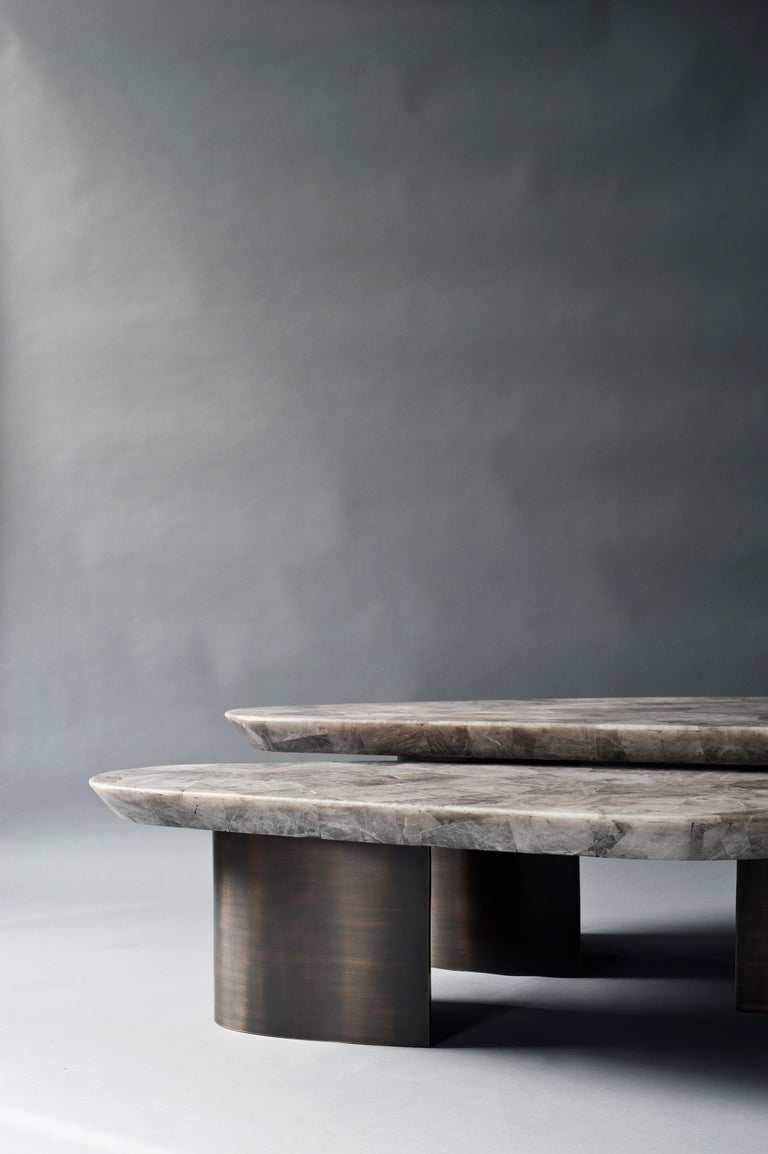Contemporary Set of 2 Ledge Coffee Table by DeMuro Das For Sale