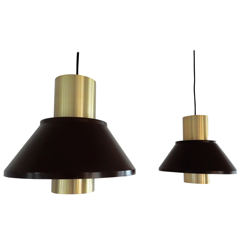 Set of 2 Life pendant lamps by Jo Hammerborg for Fog & Mørup, Denmark, 1970s