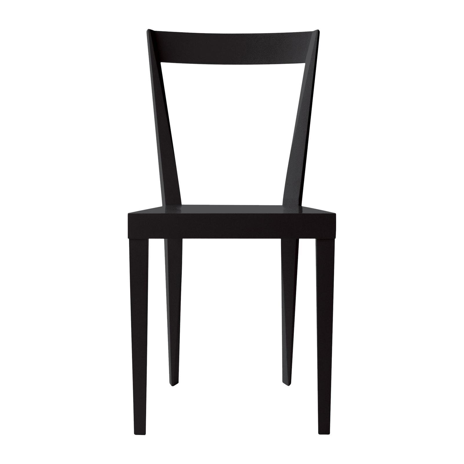 Set of 2 Livia Black Chairs by Gio Ponti