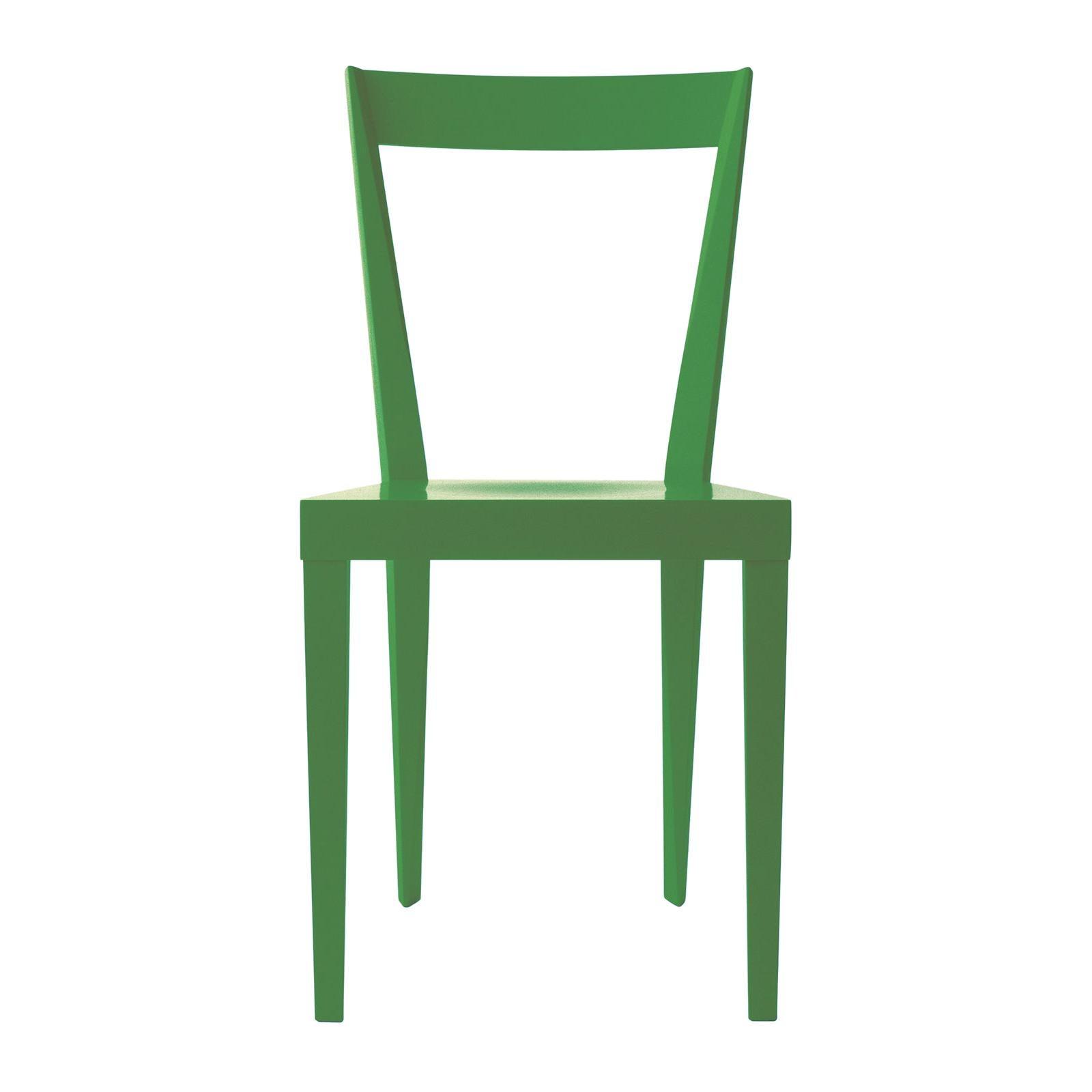 Set of 2 Livia Green Chairs by Giò Ponti