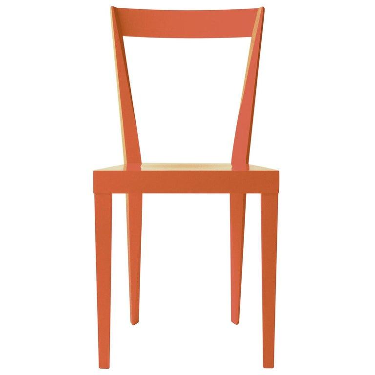 Set of 2 Livia Orange Chairs by Giò Ponti