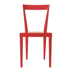 Set of 2 Livia Red Chairs by Giò Ponti