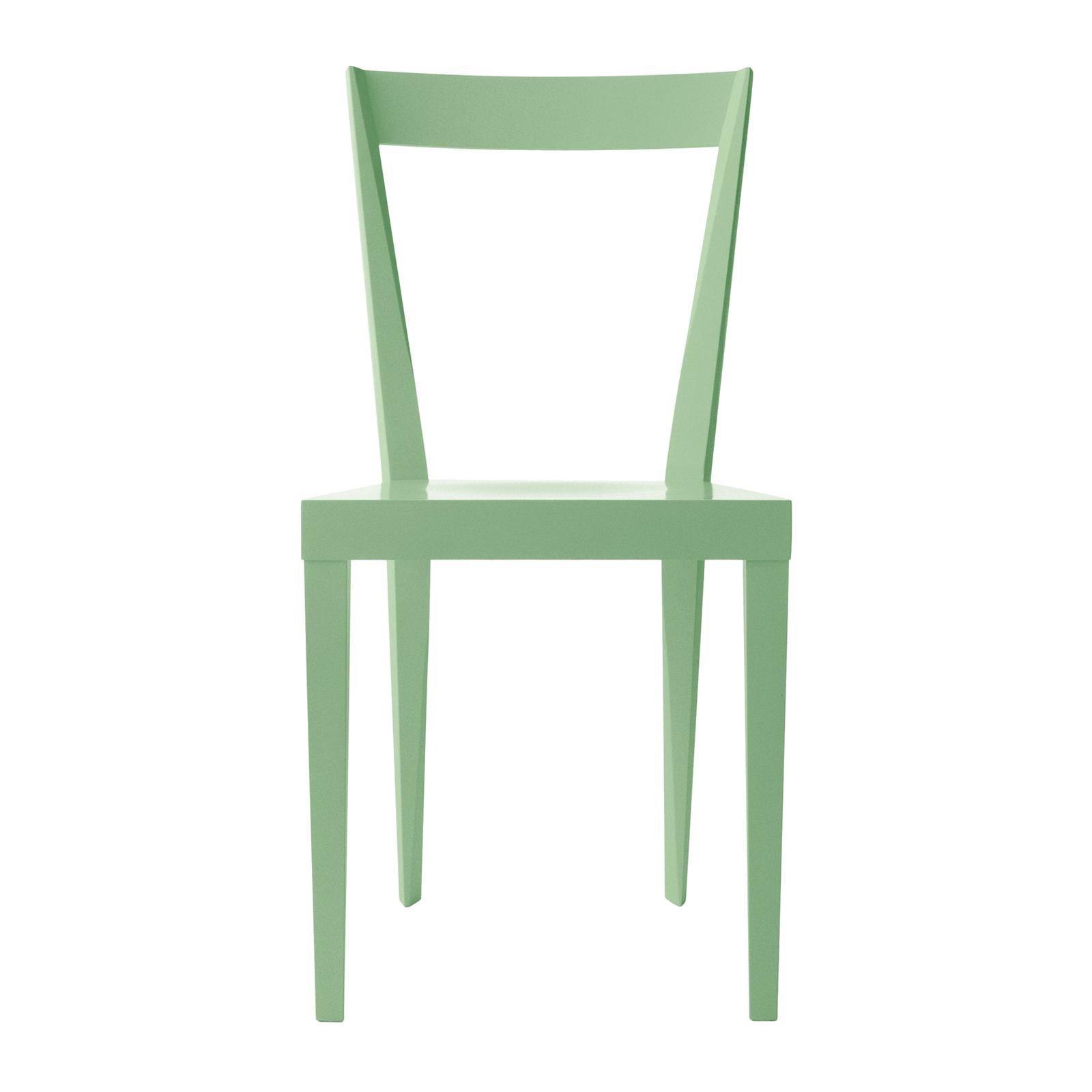 Set of 2 Livia Sage Chairs by Gio Ponti