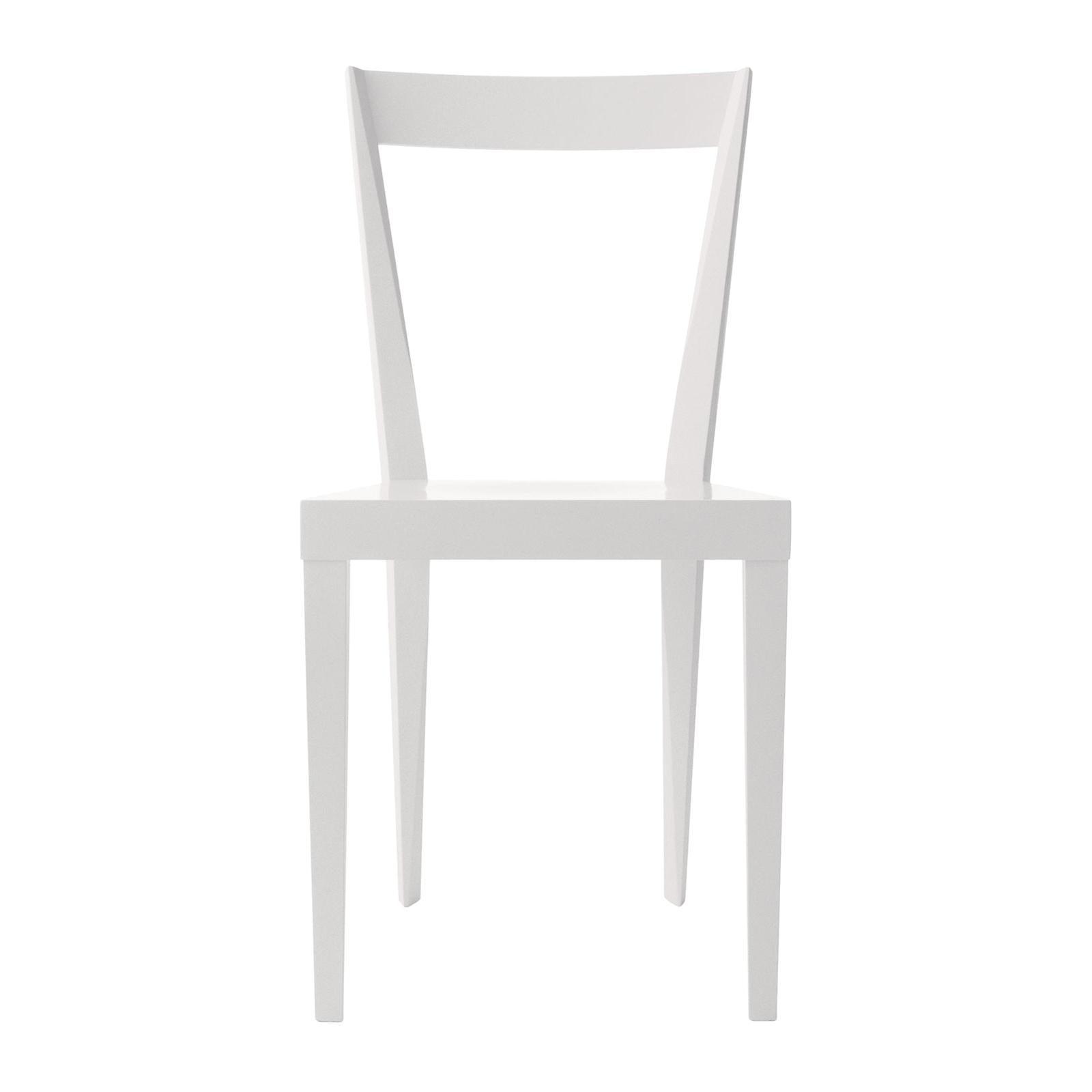 Set of 2 Livia White Chairs by Gio Ponti