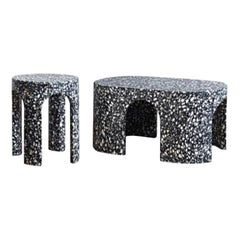 Set of 2 Loggia Terrazzo Side and Coffee Table