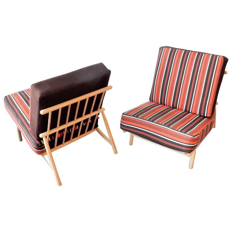 Set of 2 Lounge Chairs by Alf Svensson for DUX, Sweden, 1950s