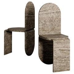 Set of 2 Mara Chair by Isac Elam Kaid
