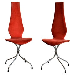 Set of 2 Midcentury Dining Chairs 'Chaise Lyre' by Theo Häberli, 1960s