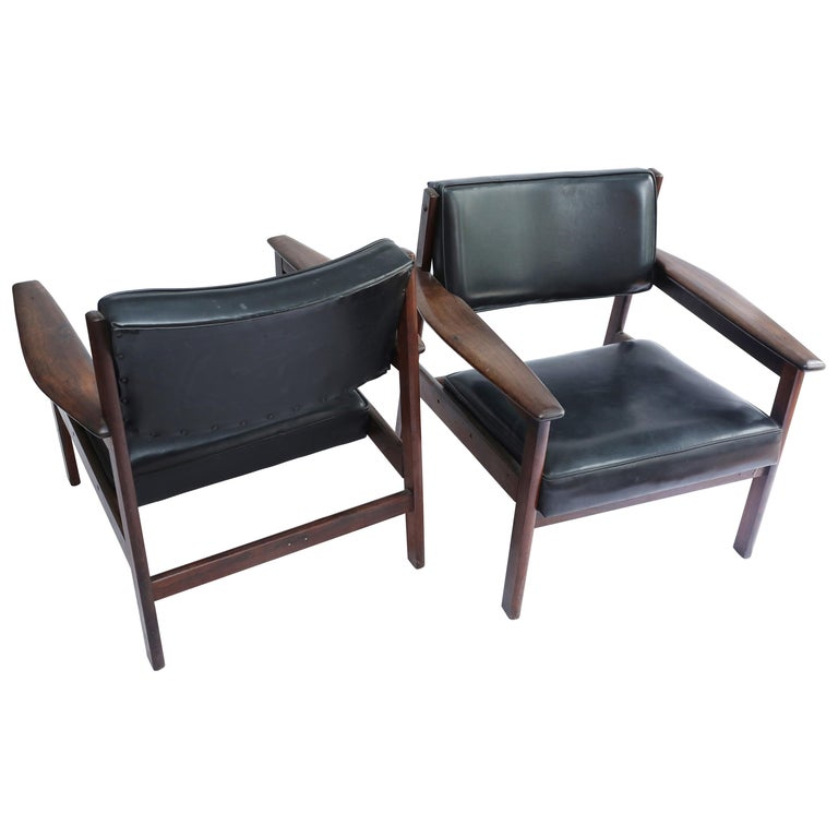 Set of 2 Mid-Century Modern Drummond Armchair by Sergio Rodrigues, Brazil, 1950s For Sale