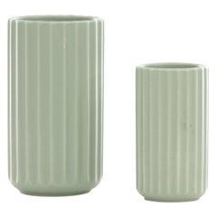 Set of 2 Mid-Century Modern Scandinavian Lungby Vases