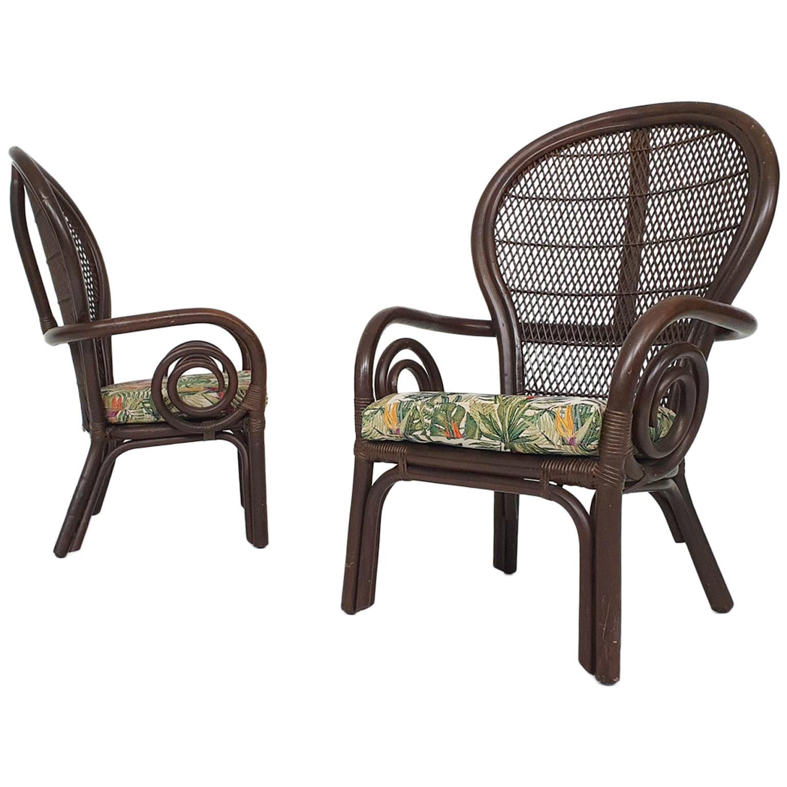 Set of 2 Midcentury Manou Lounge Chairs, 1970s