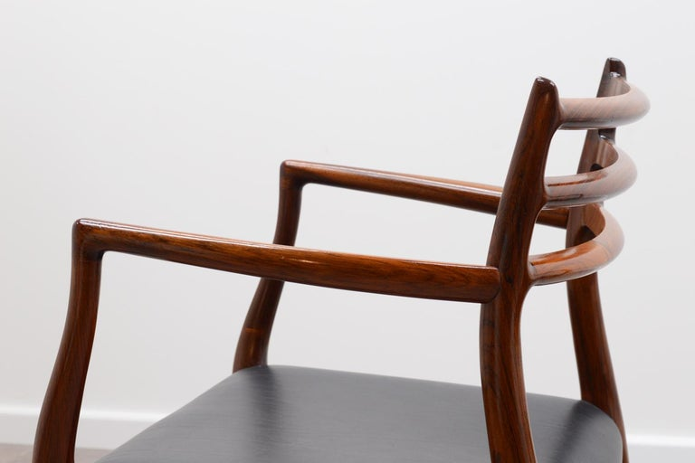 Danish Set of 2 Model 62 Rosewood Dining Chairs by Niels Otto Møller For Sale