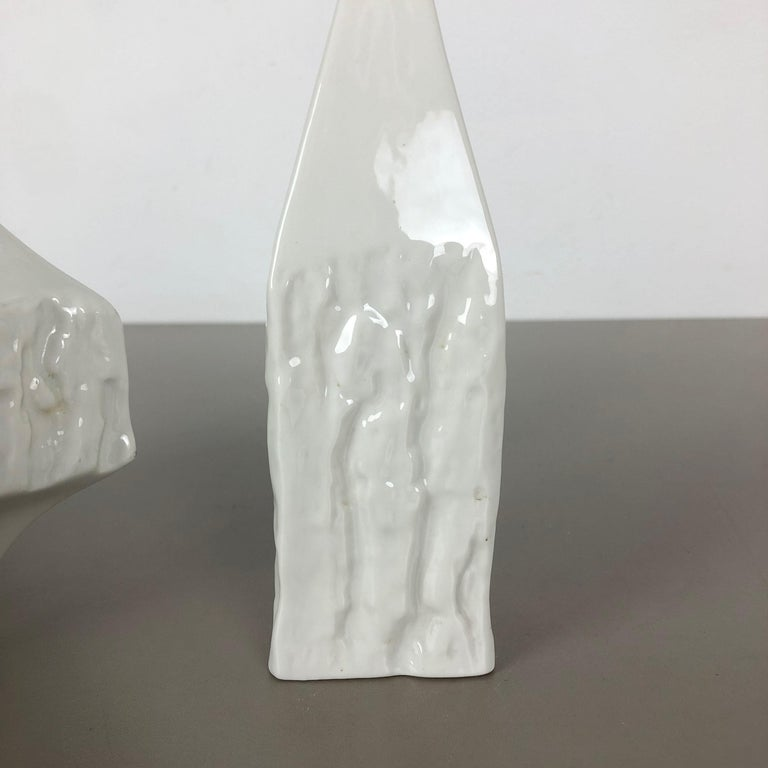 Set of 2 Modernist 1960s Vase Sculptures Peter Müller for Sgrafo Modern, Germany For Sale 8