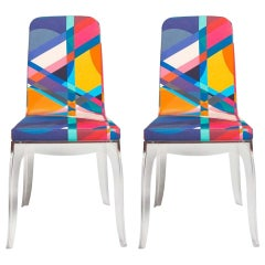 Set of 2 Moibibi Colorful Dining Chairs Designed by Marcel Wanders