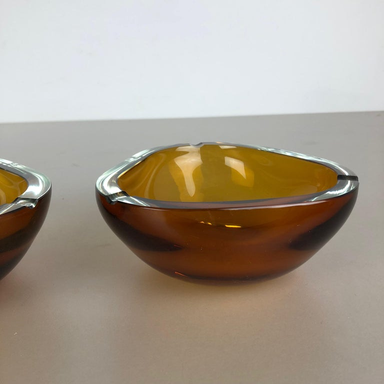 Set of 2 New Old Stock Murano Ashtray Elements Antonio da Ros for Cenedese 1960s For Sale 3