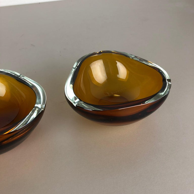 Set of 2 New Old Stock Murano Ashtray Elements Antonio da Ros for Cenedese 1960s For Sale 2