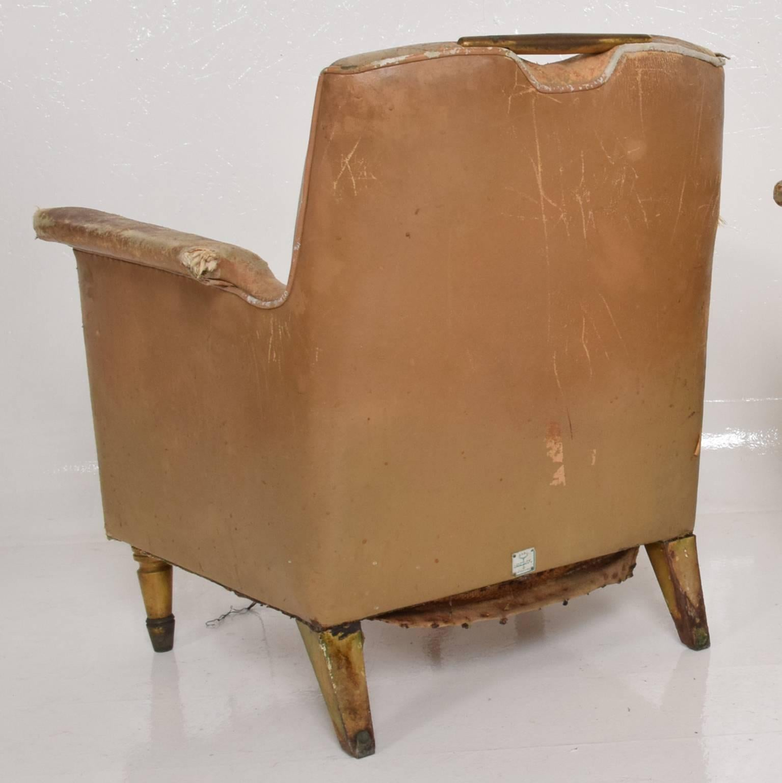 Genial Set Of Two Octavio Vidales Distressed Leather Chairs For Muebles Johrvy For  Sale 2