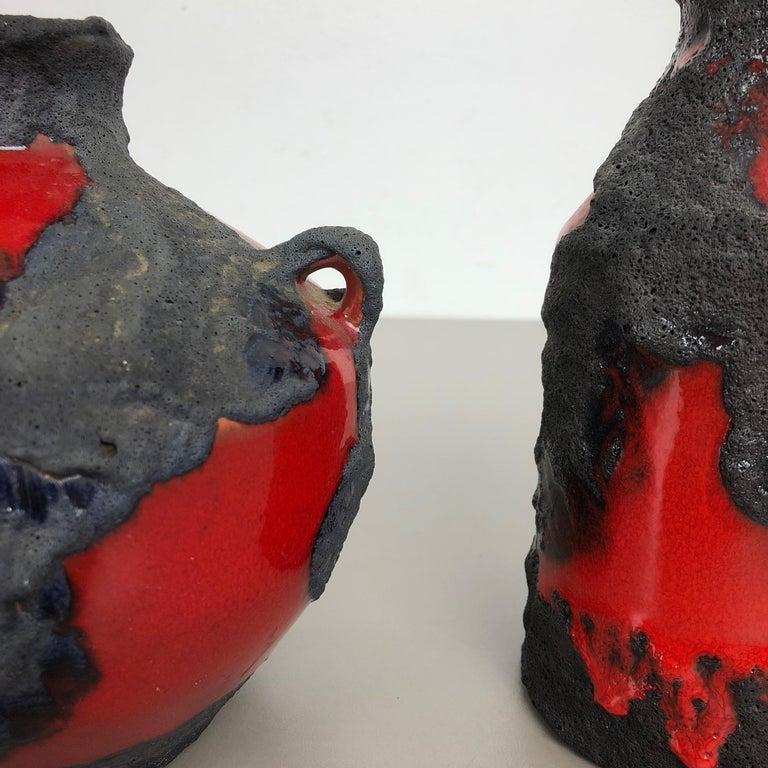 Set of 2 Original 1970 Ceramic Studio Pottery Vase by Marei Ceramics, Germany For Sale 3