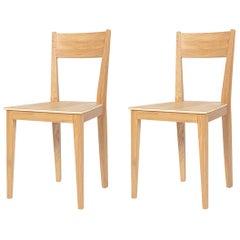Set of 2 Otzarreta Oak Chairs