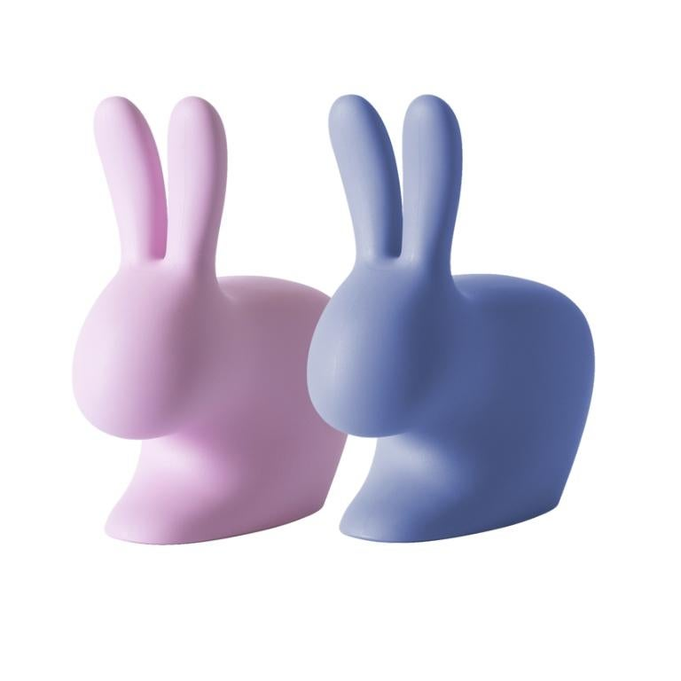 Modern In Stock in Los Angeles, Set of 2 Pink & Blue Rabbit Chairs, Stefano Giovannoni For Sale