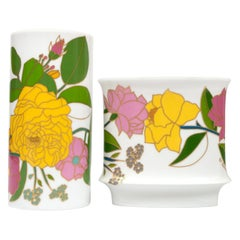 Set of 2 Porcelain Art Vases by W. Bauer for Rosenthal, Germany, circa 1970