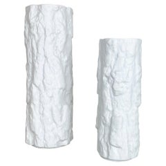 Set of 2 Porcelain OP Art Brutalist Vase by Bareuther, Bavaria, Germany, 1970s