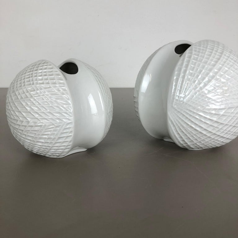 Set of 2 Porcelain Op Art