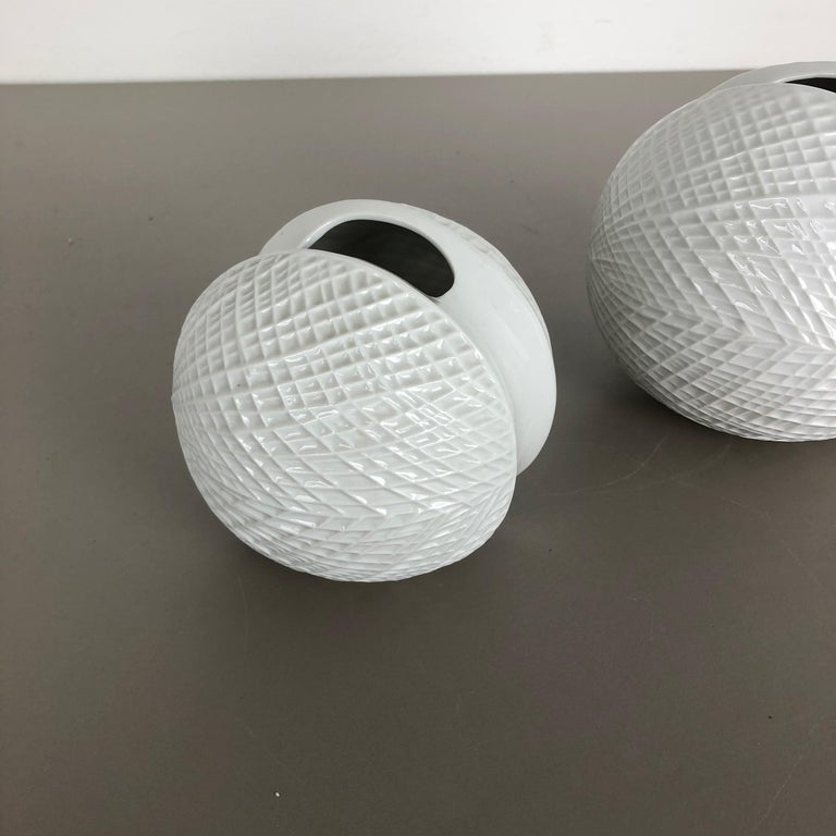 Mid-Century Modern Set of 2 Porcelain Op Art