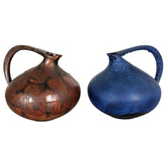 "Set of 2 Pottery Vases ""313"" Designed by Kurt Tschörner Ruscha, Germany, 1960s"