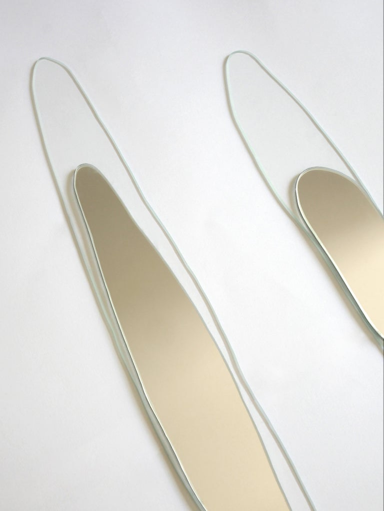 Modern Set of 2 Prix Hand-Sculpted Mirrors, Laurene Guarneri For Sale