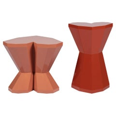 Set of 2 Queen Heart Side Tables by Royal Stranger
