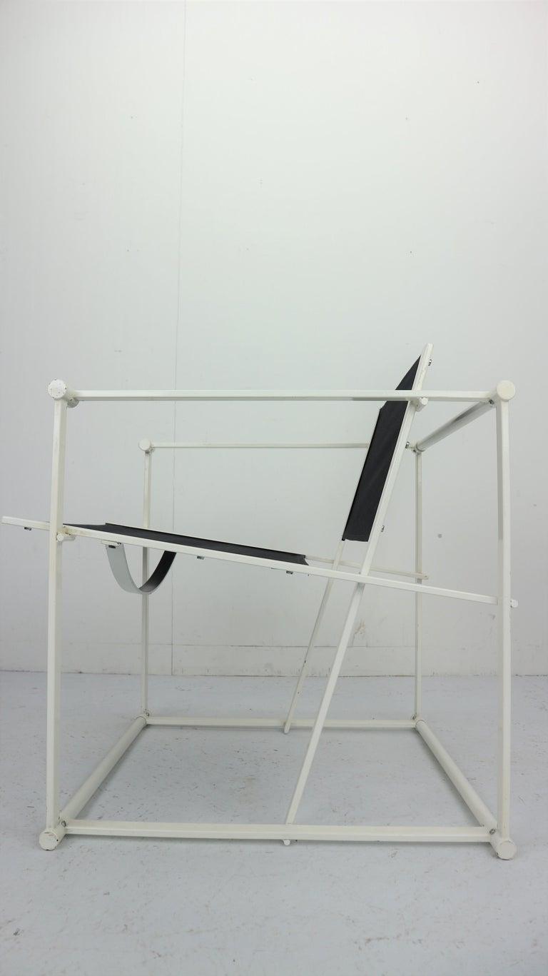 Set of 2 Radboud Van Beekum Fm62 Cube Chairs for Pastoe, 1980s Dutch Design For Sale 10