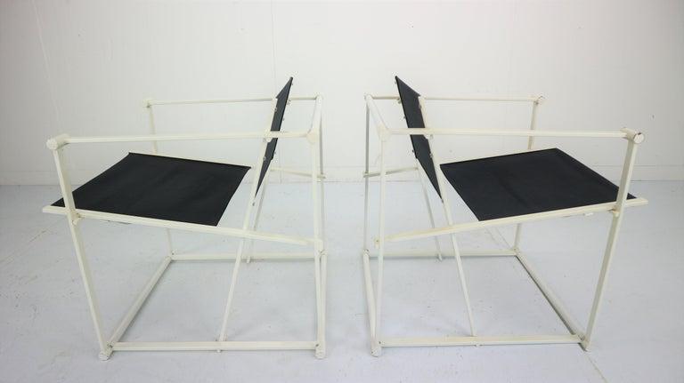 Mid-Century Modern Set of 2 Radboud Van Beekum Fm62 Cube Chairs for Pastoe, 1980s Dutch Design For Sale