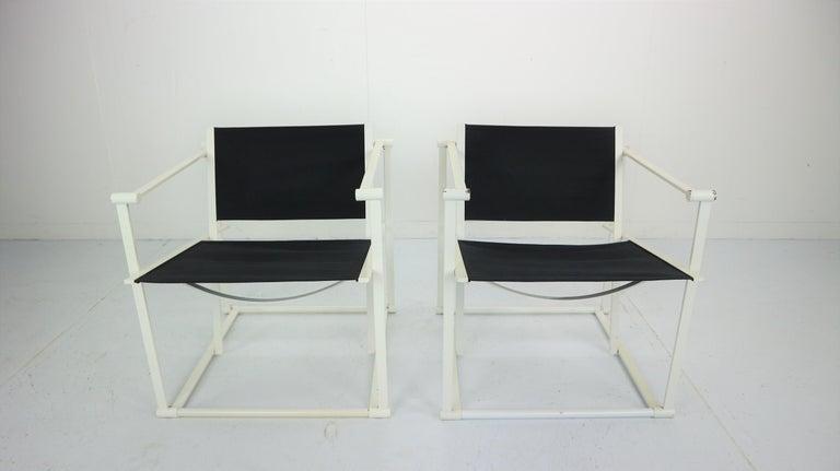 Set of 2 Radboud Van Beekum Fm62 Cube Chairs for Pastoe, 1980s Dutch Design In Good Condition For Sale In The Hague, NL