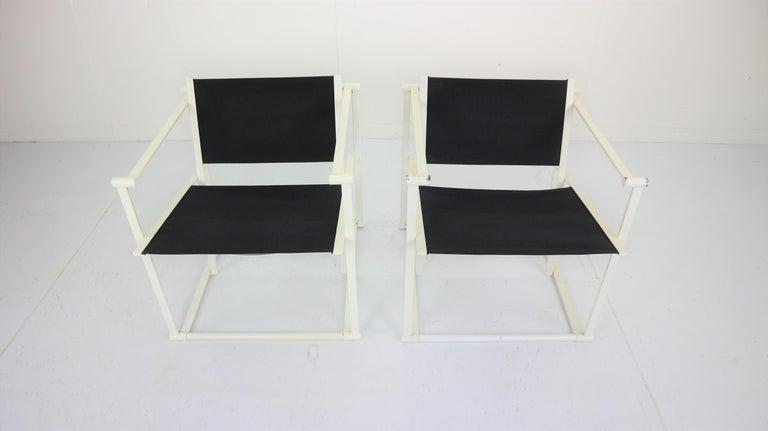 Late 20th Century Set of 2 Radboud Van Beekum Fm62 Cube Chairs for Pastoe, 1980s Dutch Design For Sale